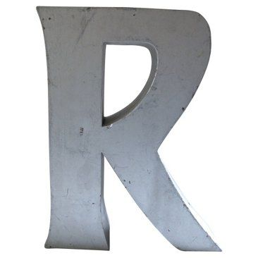 Check out this item at One Kings Lane! Industrial Marquee Letter R