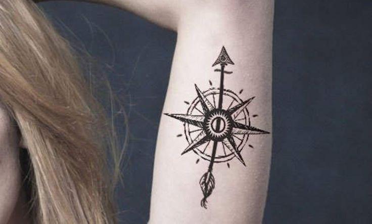 Un tatuaje para marcar el rumbo de tu vida: la rosa de los vientos - http://www.tatuantes.com/un-tatuaje-para-marcar-el-rumbo-de-tu-vida-la-rosa-de-los-vientos/ #tattoo