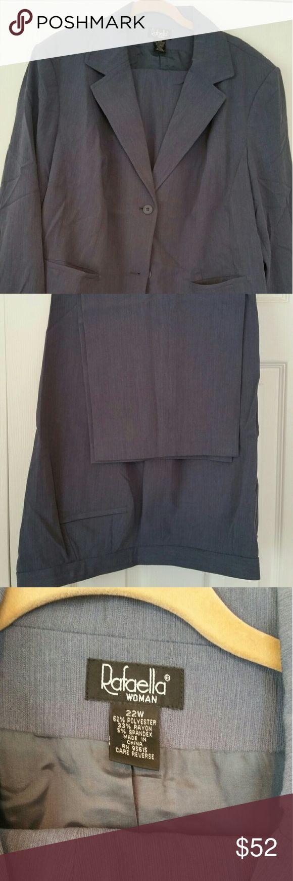 Business pants suit Black and gray pants suit Rafaella Pants
