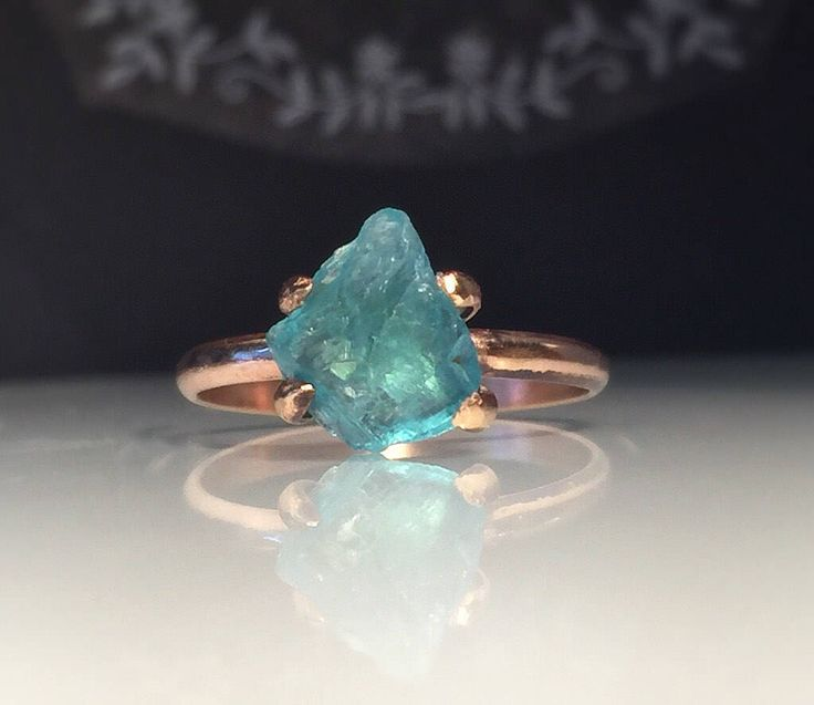 A personal favorite from my Etsy shop https://www.etsy.com/listing/524595402/raw-apatite-ringnatural-organic-gold