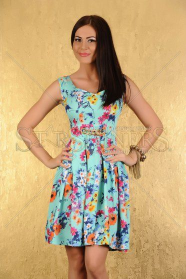 Rochie LaDonna Blooming Wish Turquoise