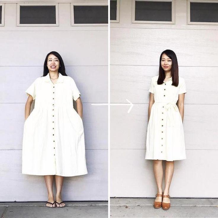 Женщина превращает некрасивую одежду в стильные наряды для себя и своих детей