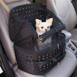 It looks like a make-up case folded up. Ultimate Traveler Pet Carrier