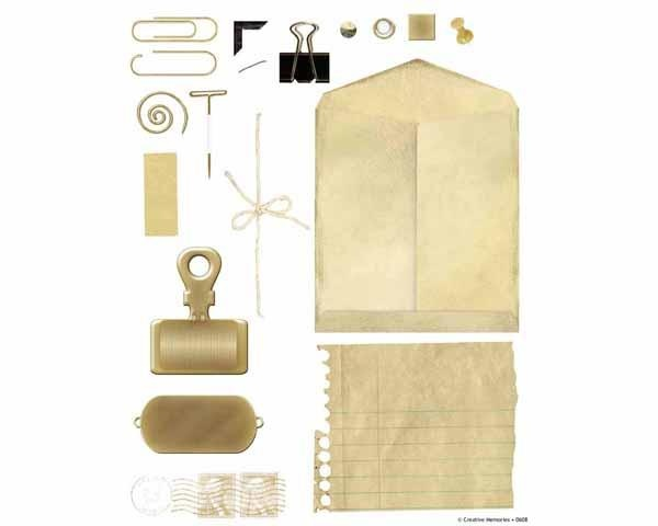 gold office supplies from creative memories espace