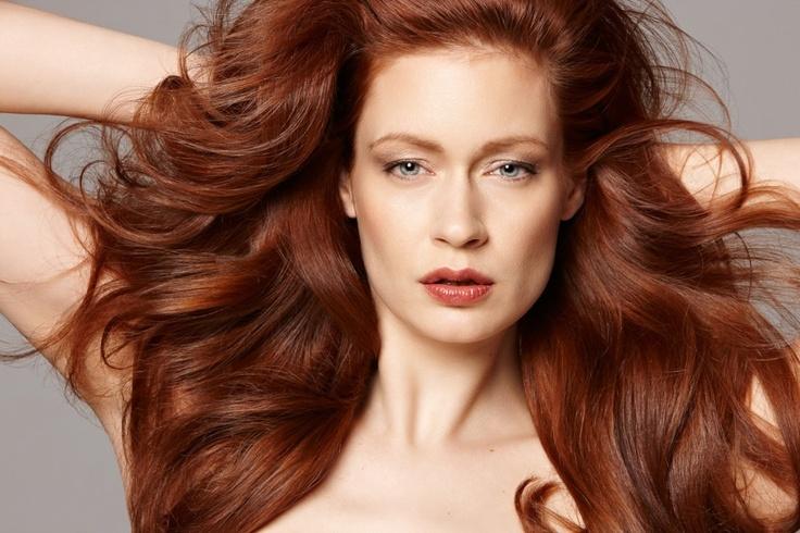 #Hair by: Kristan Serafino @SerafinoSays  Makeup: Robyn Tamura  Photog: Chris Eckert   #Redhead #Redheads