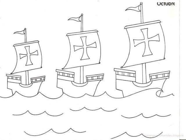 30 Dibujos Para Colorear Del Descubrimiento De América Educaciín Preescolar Las Carabelas De Colon Carabelas De Cristobal Colon Cristobal Colon Para Niños