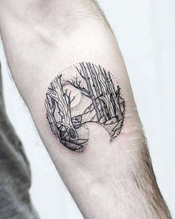 Small Jacaranda Tattoo: 50 Small Nature Tattoos For Men
