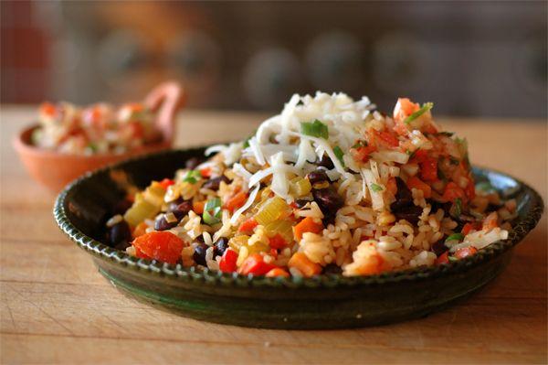 Tex Mex Rice & Beans Recipe  spicetrekkers.com