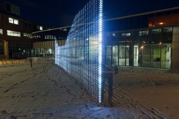 Painting with light to show WiFi networks ---- WiFi is everywhere, floating and whirling around us somehow, but where is it really? In Immaterials: Light painting WiFi, Timo Arnall, Jørn Knutsen and Einar Sneve Martinussen use a rod of blinking lights to visualize signal strength in their college town.
