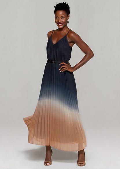 Hilary Pleated Ombre Maxi Dress  MyAlloy  MaxiDress  837acb68f