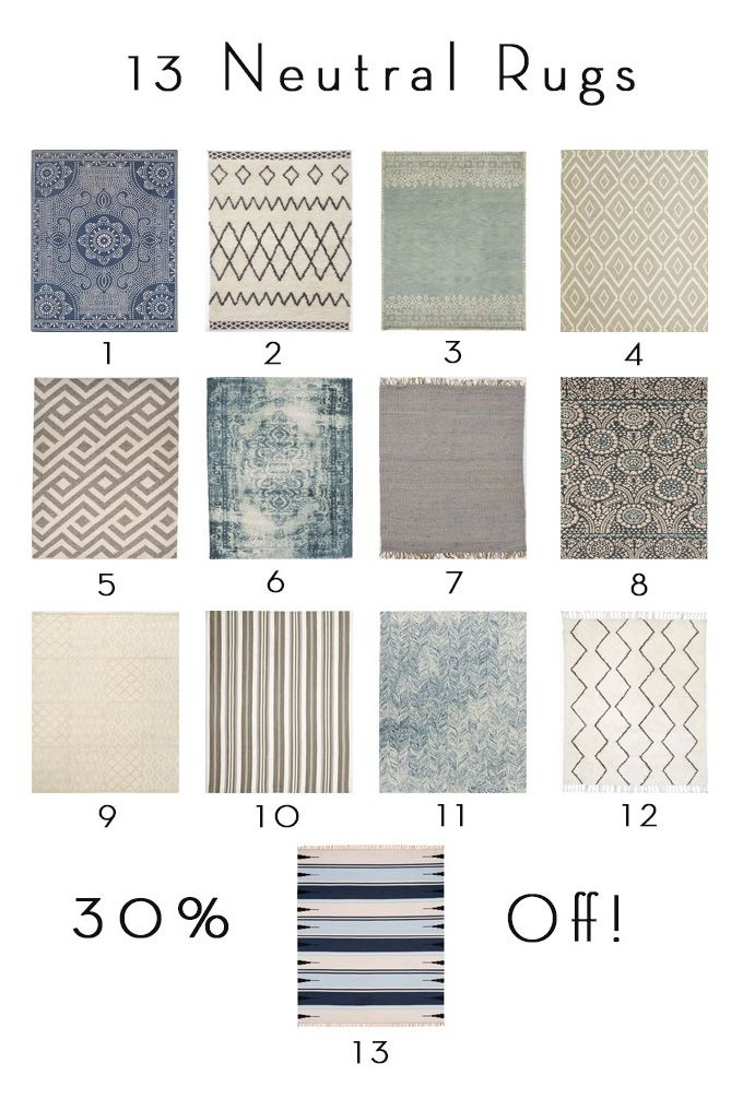13 Neutral Rugs 30% Off