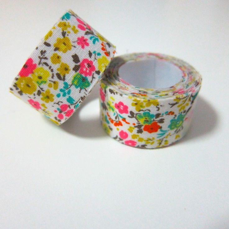 Self adhesive fabric masking tape / fabric sticker by Cutezakka
