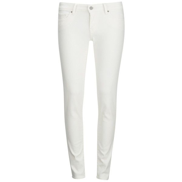 Levi's Women's 711 Skinny Jeans - Snow Wash (435 BRL) ❤ liked on Polyvore featuring jeans, white, levi jeans, skinny jeans, white denim skinny jeans, white slim fit jeans and super skinny jeans