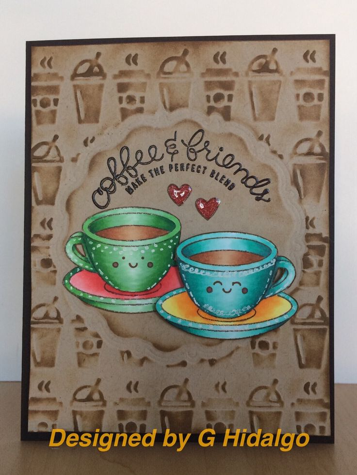 Love the coffee theme of #simonsaysstamp February kit. Pairs well with a Sizzix/Tim Holtz embossing folder I've had for a while!