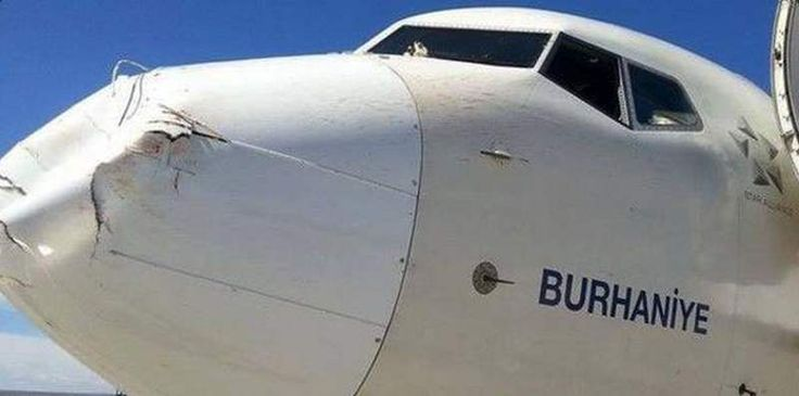 This is a Bird strike to the nose of a Boeing 737  , - ,   Yes, this is a b...