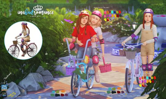 Sims 4 CC's - The Best: Children's bicycle set by inabadromance