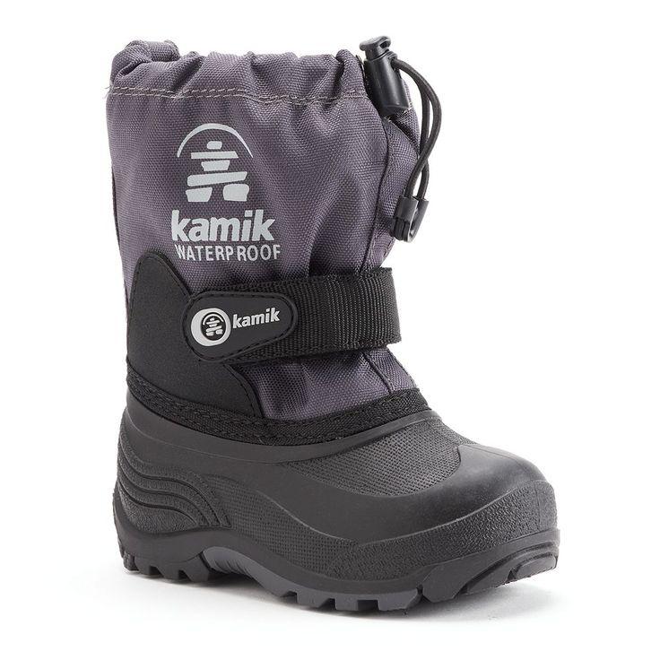 Kamik Waterbug5 Boys' Waterproof Winter Boots, Size: 10 T, Grey