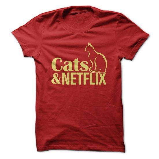 Cats and Netflix T Shirts, Hoodies, Sweatshirts. GET ONE ==> https://www.sunfrog.com/Pets/Cats-amp-Netflix.html?41382