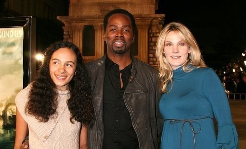 Actor Harold Perrineau Jr. is pictured with his wife Brittany and their daughter Aurora,12