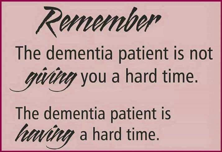 A bunch of things to know about dementia So so true. Be kind, it could happen to you