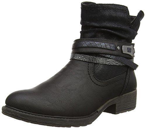 Jana 25412, Damen Biker Boots, Schwarz (schwarz (BLACK 001)), 37 EU (4 Damen UK) - http://on-line-kaufen.de/jana/37-eu-jana-25412-damen-biker-boots