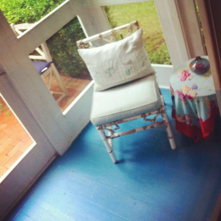 My Painted Porch Floor. Fine Paints Of Europe. Nest By Tamara Http:/