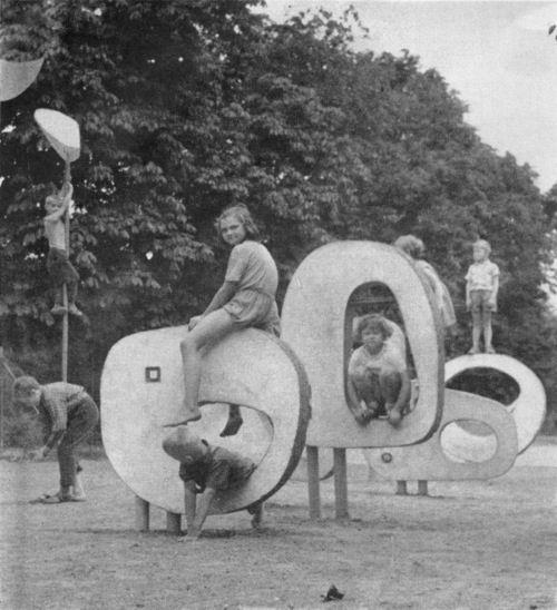 Eleonora Heraksimova & Olbram Zoubek  Mid century modern playground equipment