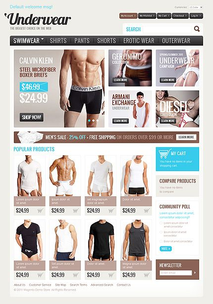 Store Man Magento Themes by Hermes