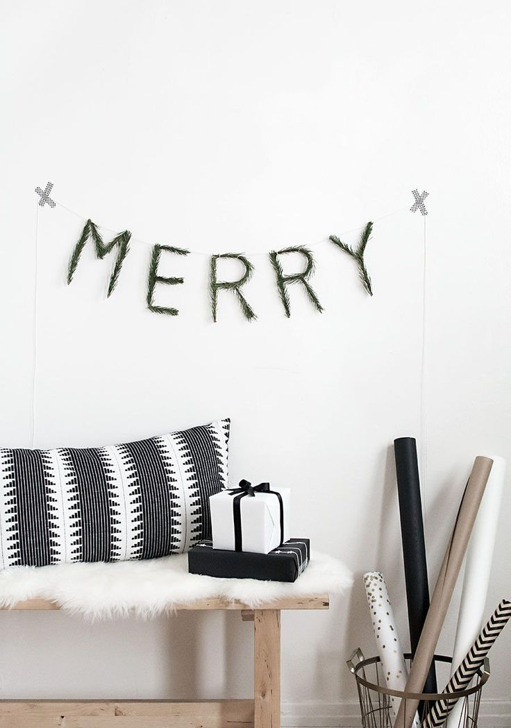 DIY Merry Pine Garland - Homey Oh My!