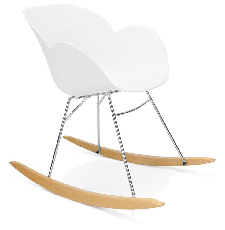 Kokoon Design Schaukelstuhl KNEBEL, Weiß / Buche I Shopforliving.de, 175,95