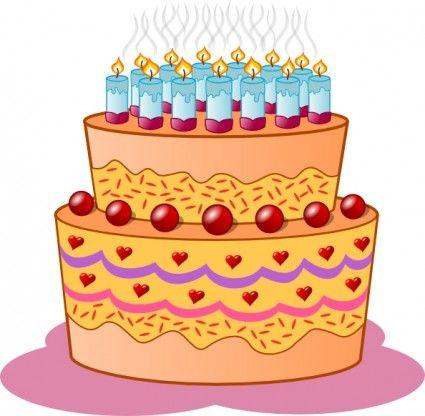 The 25 best Birthday cake clip art ideas on Pinterest