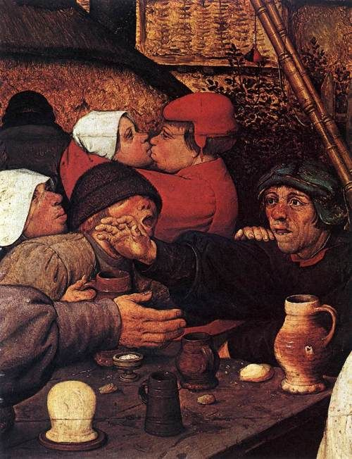 Pieter Bruegel the Elder c. 1567, Peasant Dance (detail)