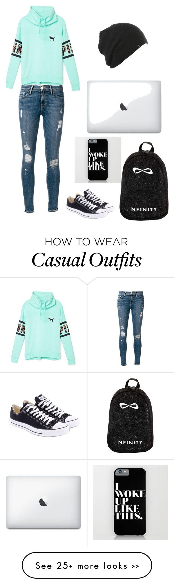 """casual school outfit"" by ginamf on Polyvore"