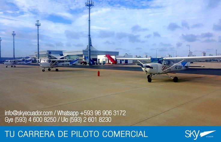 Parte nuestra flota de vuelo en la nueva base de Sky Ecuador  #Salinas !   Matrículas Abiertas! Próximos Cursos: Febrero  #Quito #Guayaquil #Salinas  Fórmate como Piloto Comercial en #Ecuador !  Para mayor información escríbenos a: info@skyecuador.com o mensajes WhatsApp 096 906 3172  Teléfonos:  02 601-8230 #Quito  04 600 8250 #Guayaquil
