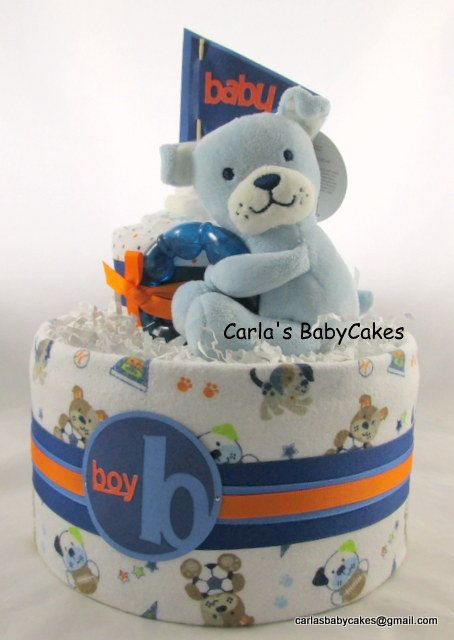 Boy diaper cake  Sports diaper cake  Baby by MsCarlasBabyCakes