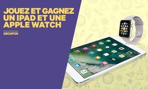 Groupon - Participez au tirage au sort pour tenter de gagner un iPad et une Apple Watch à Groupon. Prix Groupon : 0€