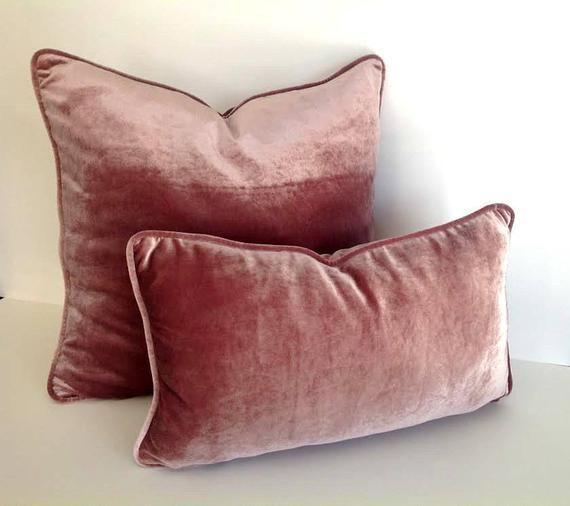 dusty rose velvet pillow cover dusty