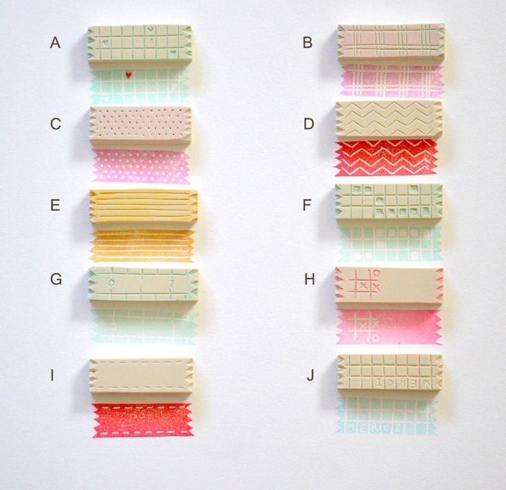 "Washi tape stamps / Hand Carved Rubber Stamp - such a nice idea...personalize ""tapes"" for special occasions or trips!"