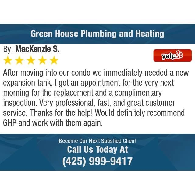 After Moving Into Our Condo We Immediately Needed A New Expansion Tank I Got An Appointment For The Ver Plumbing Thanks For The Help Air Conditioning Services
