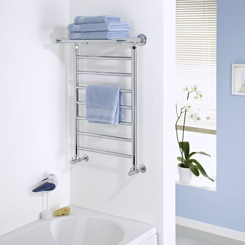 keep towels warm dry and organised with the milano pendle chrome heated towel rail