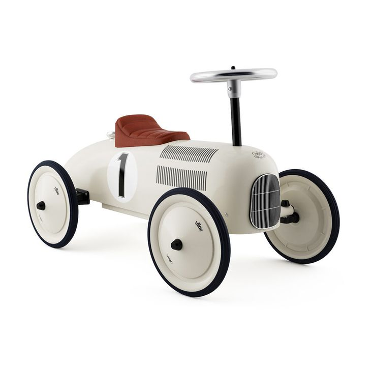 This vintage car is pure bred gorgeous and will make you and your tot feel oh so stylish. It's a work of art, a collectable to be sure. Perfect as a decor element in the nursery, but you won't mind di