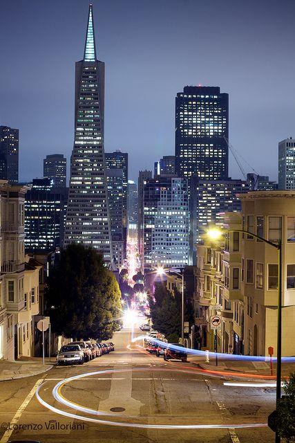 Night view of San Francisco word travel viagem viagens mundo eua estados unidos sao francisco cidade city foto photo noite luzes