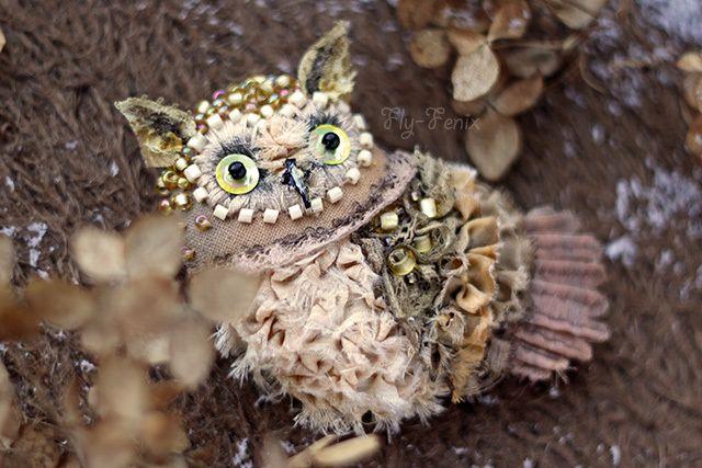 Julia Sevastyanova - Umka Owlet brooch  http://www.livemaster.ru/fly-fenix