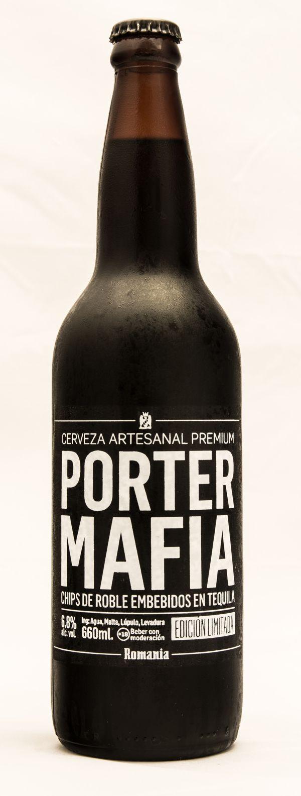 Romania [Craft Beer] - Porter Mafia by BURNOUT , via Behance