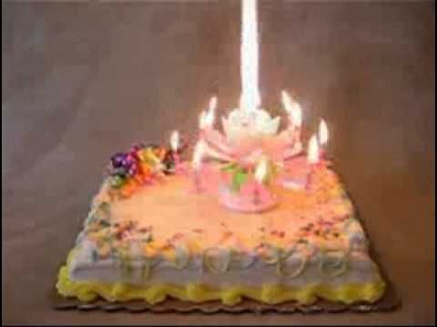 Musical Flower Happy Birthday Candle... My grandchildren went bananas when I put this on my granddaughter's birthday cake... It was hysterical!