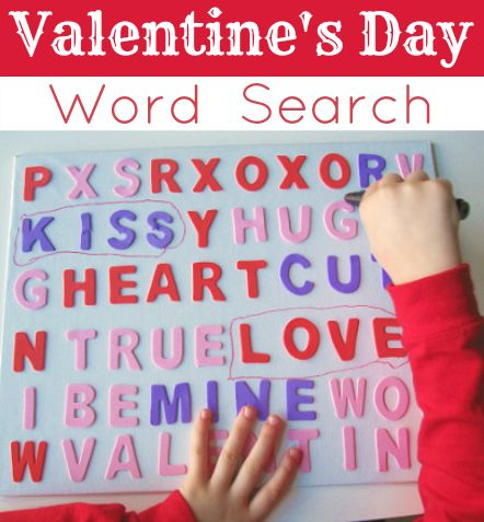 3D word search for Valentine's Day. Maybe a class game, who can find the most words in X amount of time
