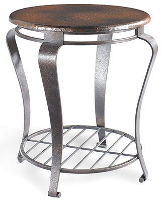 Clark Copper Round End Table Clarks Black Stool And