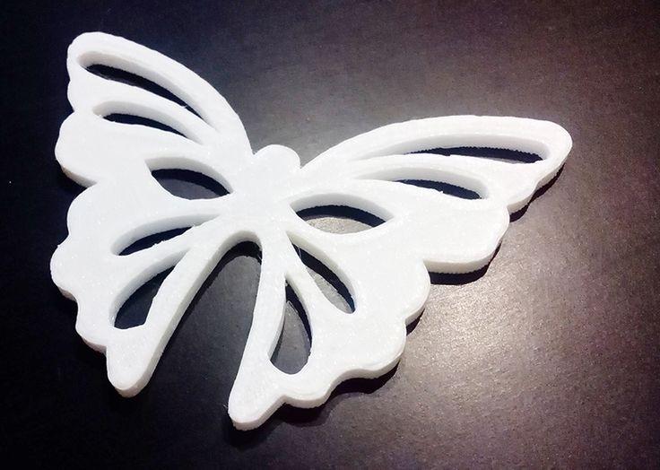 Sagoma farfalla plastica decorare con decoupage