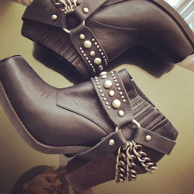 For the biker chick look- Jeffrey Campbell biker boots