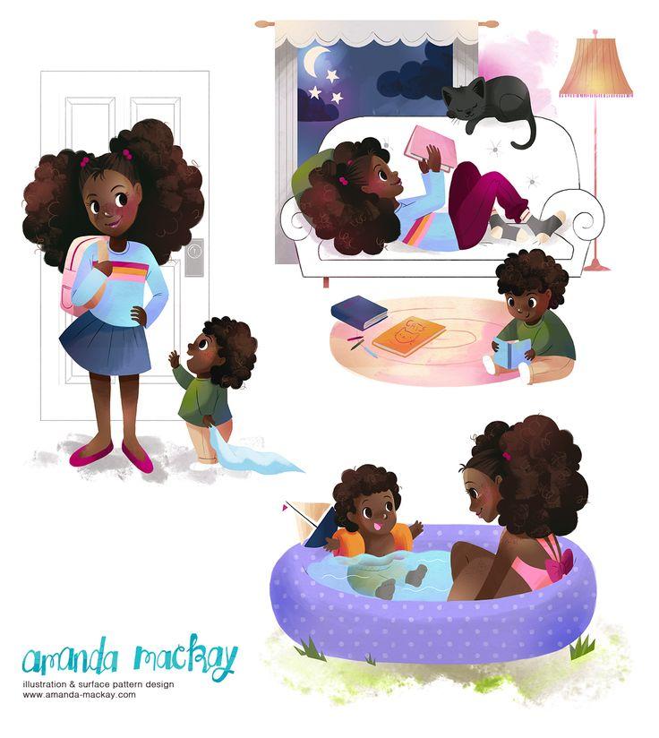 Cute Kids - by Amanda MacKay Illustration